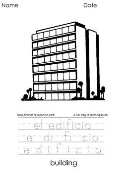 El Alfabeto - Alphabet - Diccionario Gráfico - Páginas para Colorear : E - I