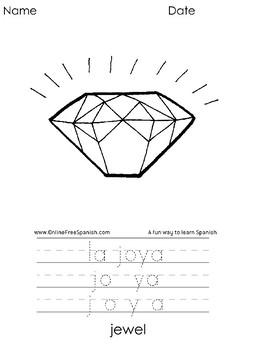 El Alfabeto - Alphabet - Diccionario Gráfico - Páginas para Colorear : J - M