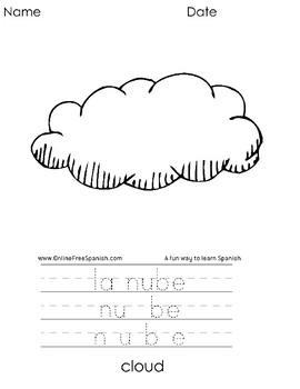 El Alfabeto - Alphabet - Diccionario Gráfico - Páginas para Colorear : N - Q