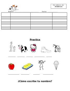 El Alfabeto (Alphabet) Blank Notes