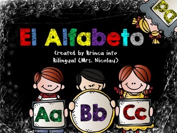 El Alfabeto - Bulletin Board, small groups and an interactive booklet IN SPANISH
