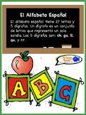 El Alfabeto Español (The Spanish Alphabet - Worksheets & Charades!)
