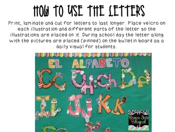 El Alfabeto FREE SAMPLE (letters A and B)