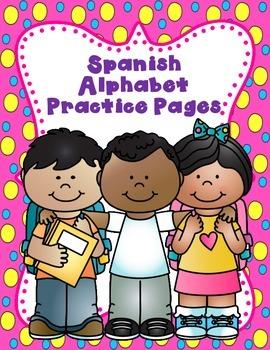 El Alfabeto:  Hojas de practica para Kindergarten