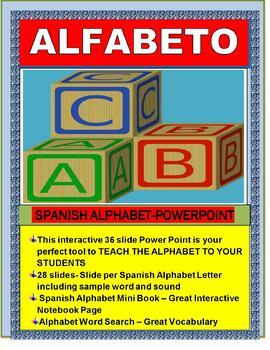 EL ALFABETO Powerpoint-Mini Spanish Alphabet Book & Word Search