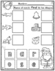 El Alfabeto:  Sonido Final de Navidad Actividades para Kindergarten y Primero