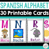 El Alfabeto - Spanish Alphabet Cards for the Classroom or