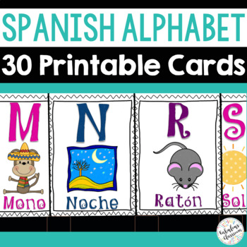 El Alfabeto - Spanish Alphabet Cards for the Classroom or
