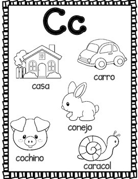 el alfabeto spanish alphabet coloring sheets by bilingual. Black Bedroom Furniture Sets. Home Design Ideas