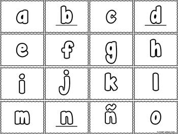 El Alfabeto / Spanish Alphabet Flash Cards