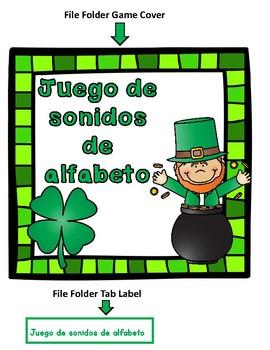 File Folder Game: El Alfabeto Spanish Alphabet Sounds