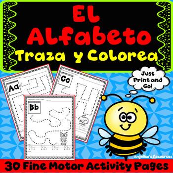 Spanish Alphabet Tracing : El Alfabeto - Fine Motor & Handwriting Practice