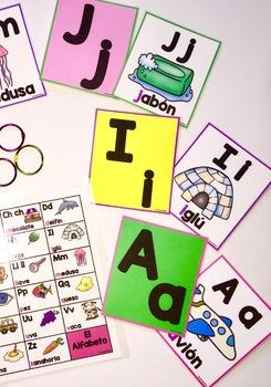 El Alfabeto~ Word Wall Flash Cards~