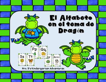 El Alfabeto en el tema de Dragón