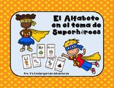 El Alfabeto en el tema de Superhéroes
