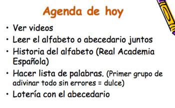 El Alfabeto en español | Spanish Alphabet for High School and College