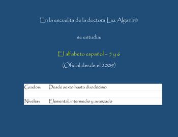 El Alfabeto español y canciones 5 y 6