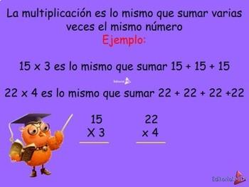 El Algoritmo de la Multiplicacion MATERIAL PARA IMPRIMIR