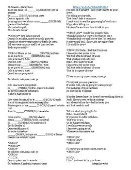 El Amante - Nicky Jam - Irregular Verbs