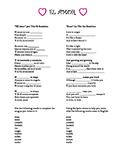 """El Amor"": Spanish Song Lesson for Valentine's Day (El Día"