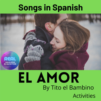 El Amor by Tito El Bambino.  Song activities.