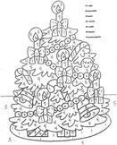 El Arbol de Navidad- Christmas Tree-Color by Number in Spanish-Navidad