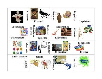 El Arte- Vocabulary Puzzle