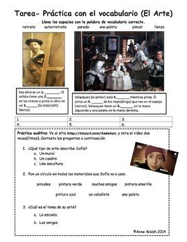 El Arte- Vocabulary and Authentic Listening Practice Part 2
