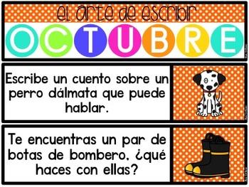El Arte de Escribir (Octubre) Writing Activities in Spanish (October)