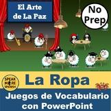 El Arte de La Paz.  Spanish Vocabulary PowerPoint Games fo