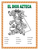 El Cuerpo- Body Parts in Spanish -Label El Azteca-Word Search/Double Puzzle