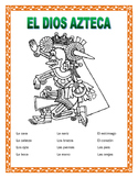 El Cuerpo- Body Parts in Spanish -Label El Azteca-Word Sea