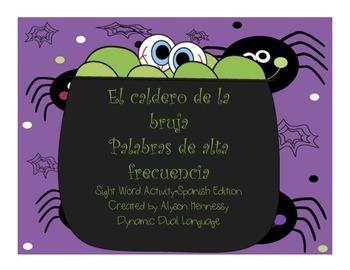 El Caldero de la Bruja-Palabras de Alta Frecuencia/Halloween Sight Word Activity