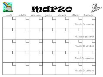 El Calendario - A Blank Spanish Calendar