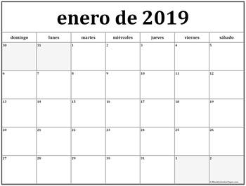 El Calendario Actual (2019)