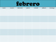 El Calendario - Blank Monthly Calendars for Spanish with c