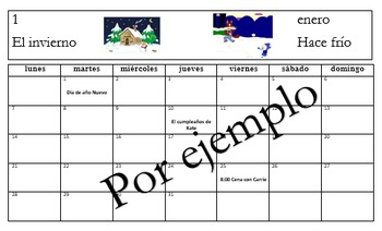 El Calendario (Un Año) - Un Proyecto - Creating a Year Long, Personal Calendar