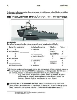 El Camino de Santiago / El Prestige; 2 units about Galicia - SP Intermediate 2