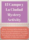 El Campo y La Ciudad Mystery Activity