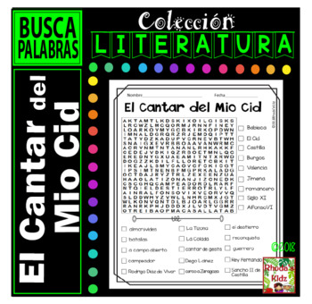 El Cantar del Mio Cid  -Word search
