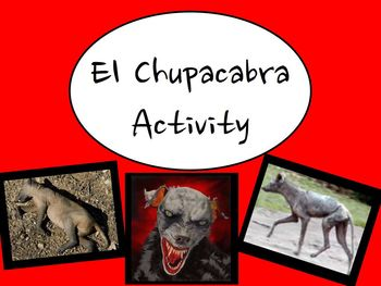 El Chupacabra Spanish Class Cultural Activity - Article, Q