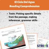 El Ciclo Del Agua/The Water Cycle Reading Comprehension Wo