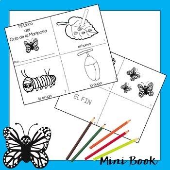 El Ciclo de la Mariposa {Mini-Coloring Book}