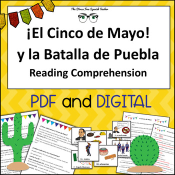 El Cinco de Mayo Spanish Reading Comprehension & Vocabulary Cards