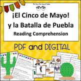 El Cinco de Mayo Spanish Reading Comprehension & Vocabulary Cards