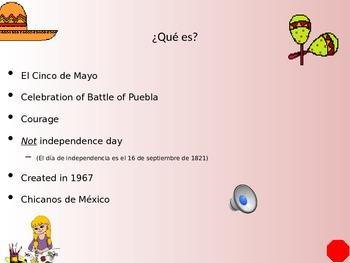 El Cinco de Mayo presentación