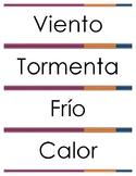 Spanish: El Clima - Pack 1 - Vocabulario