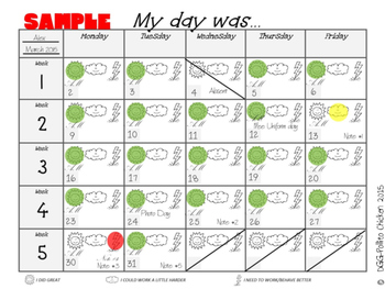 English + Spanish  + Dual Language Behavior Calendar log -  Registro de Conducta