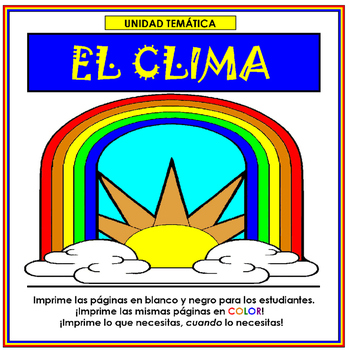 El Clima (Weather in Spanish)