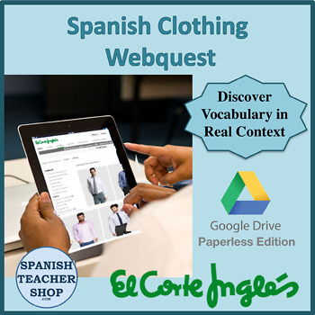 0be3145a7 El Corte Ingles Digital Webquest on Google Doc by SpanishPlans | TpT